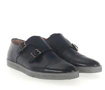 Sneaker Doppel-Monk 15021 Leder Nachtblau