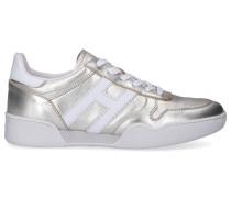 Sneaker low RETRO VOLLEY Kalbsleder Logo weiß