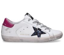 Sneaker low 590 SUPERSTAR Kalbsleder Glitzer Patch
