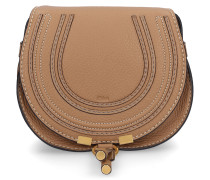 Handtasche MARCIE MINI Kalbsleder Logo hellbraun