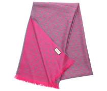 Schal 3G200 Baumwolle Logo rosa grau