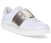 Sneaker low OPEN Kalbsleder gold weiß