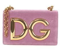 Handtasche Abendtasche DG GIRLS Logo Samt rosa