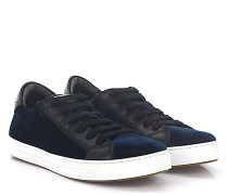 Sneaker TENNIS CLUB Samt dunkel Leder schwarz