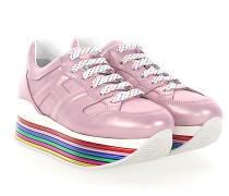 Sneaker H352 Kalbsleder Logo Metallisch rosa