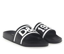 Sandalen SAINT BARTH Leder schwarz Logo