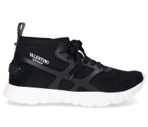 Sneaker high QY2S0A57 Mesh Logo schwarz weiß