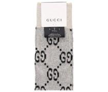 Socken SOCKS LOGG Baumwolle Lamé Logo beige schwarz