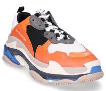 Sneaker low TRIPLE S Kalbsleder Polyester schwarz