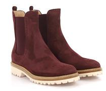 Stiefeletten Boots 7854 Veloursleder bordeaux