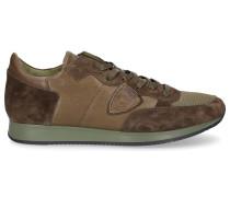 Sneaker low Tropez Glattleder Veloursleder Logo e