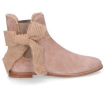 Chelsea Boots 8504 Veloursleder Schleife