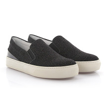 Sneakers Slip On Textil Glitzer
