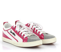 Sneaker Baumwollmischung Kalbsleder Lackleder