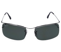 Sonnenbrille Square 3499 Metall silber