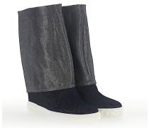 Keilsneaker DOUBLE FACE 2S847 Denim jeans silber