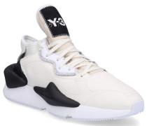 Sneaker low KAIWA Glattleder Neopren Logo creme