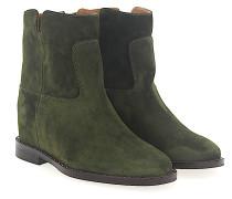 Stiefeletten Boots Veloursleder Nieten silber