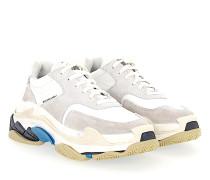 Sneaker low TRIPLE S Nylon Veloursleder Logo grau