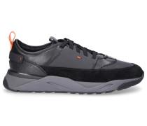 Sneaker low 21240 Kalbsleder Wildleder Logo -kombi