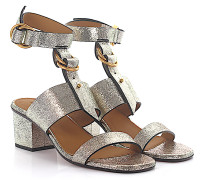 Knöchelriemchen Sandale Leder geprägt