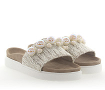 Sandalen Bast Textil Perlen