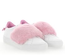 Slip-On Sneaker Leder weiss Nerz rosa