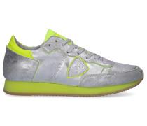 Sneaker low TROPEZ Kalbsleder Logo Patch silber