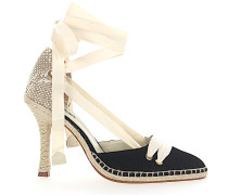 Pumps Espadrilles MANOLO HIGH Textil beige