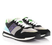 Sneakers R261 Veloursleder Lackleder türkis Mesh