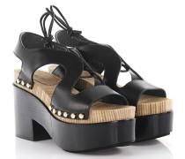 Sandalen Clogs Plateau Leder Nieten