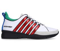 Sneaker low 251 Kalbsleder Veloursleder Logo bunt