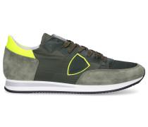 Sneaker low TROPEZ Textil Veloursleder Logo olive