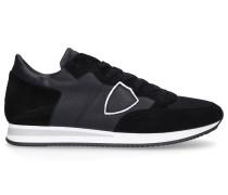 Sneaker low TROPEZ Kalbsleder Veloursleder Logo