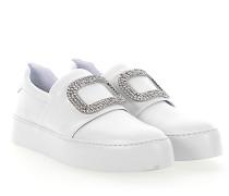 Sneaker Slip-On 8752 Kalbsleder Kristallverzierung