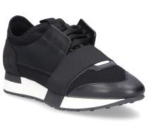 Sneaker RACE RUNNER Glattleder Kalbsleder Mesh Logo