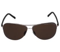 Sonnenbrille Aviator 8569 Acetat Metall grün