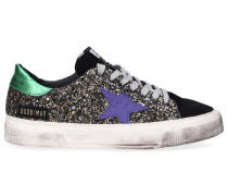 Sneaker low MAY Glitter Veloursleder Logo Used