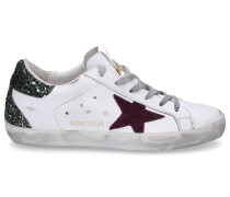 Sneaker low SUPERSTAR Glattleder Glitter Used grün