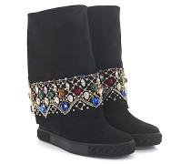 Wedge Boots RENNA Veloursleder Schmucksteine