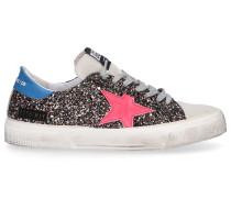 Sneaker low MAY Glitter Veloursleder Glitzer Logo