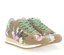 Sneaker ETOILE Stoff beige Blumenmuster Bulldog Patch