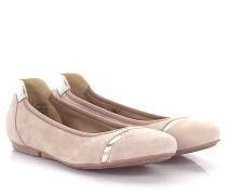 Ballerinas Wrap 144 Veloursleder silber
