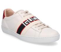 Sneaker low NEW ACE Glattleder Logo creme