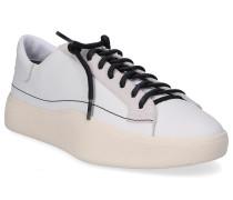 Sneaker low TANGUTSU LACE Canvas Wildleder Logo beige