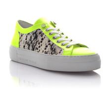 Sneaker Kalbsleder Prägung gelb weiß