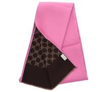 Schal 3G744 Baumwolle Logo rosa beige