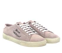 Sneaker D5XH0 Veloursleder rosè flieder print-logo