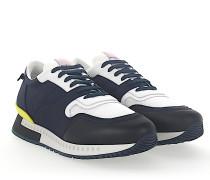 Sneaker RUNNER Stoff blau Leder schwarz Mesh weiss