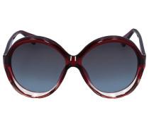 Sonnenbrille Oval BIANCA Acetat rot pink